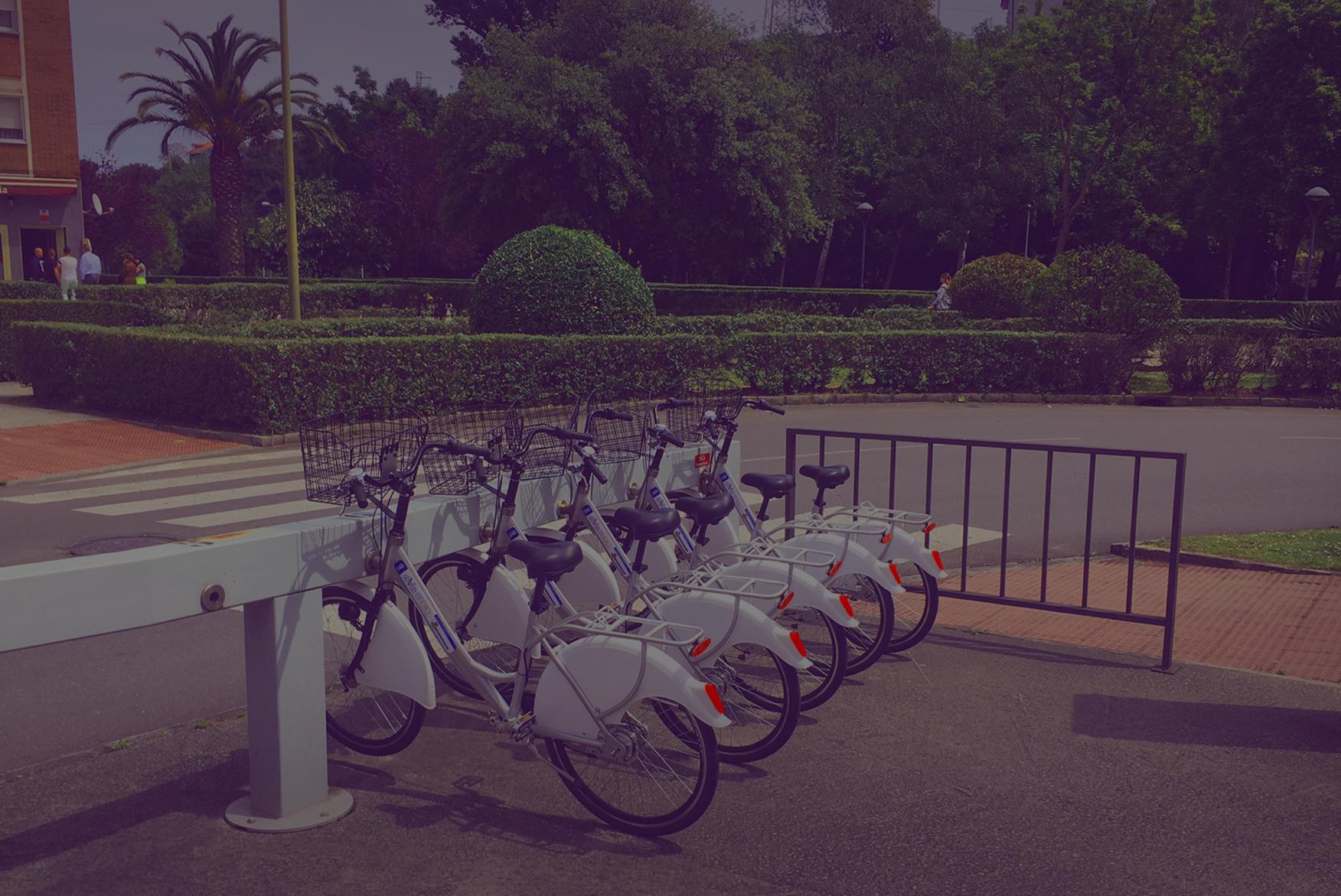 imagen de fondo bicicletas y jardines